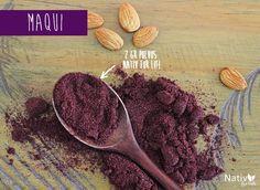 Polvos 100 fruta #maqui #chile www.nativforlife.cl