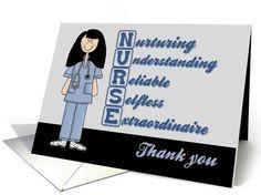 Nurse Acronym Thank you-Nurse card (572701)