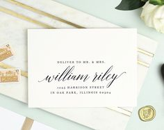 Printable Envelope Template for your wedding invitations, rsvps, or holiday cards by Print & Poste