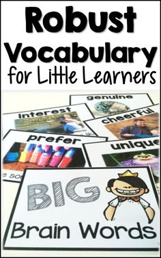 Vocabulary Activities for Little Learners ~ Big Brain Words – Fluttering Through the Grades – art therapy activities Kindergarten Vocabulary, Math Vocabulary Words, Vocabulary Instruction, Academic Vocabulary, Vocabulary Activities, Interactive Activities, Kindergarten Reading, Vocabulary Building, Vocabulary Strategies