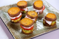 the chew | Jessica Chironna - Grilled Chicken Sweet Potato Sliders (with homemade Tzatziki sauce