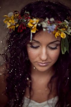 """The flower crown for sure, but the whole portfolio is a big """"yes please!"""""""
