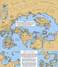 a map of the internet in 2010. no pintrest...but very interesting and surprising
