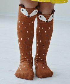 Loving this Rust Fox Socks - Girls on #zulily! #zulilyfinds