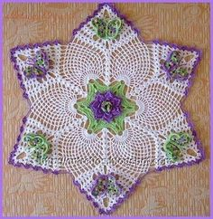 Many gorgeous crochet doily patterns on this website.
