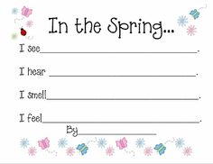 Spring File Folder Word Wall and Writing Prompts | Erica's Ed-Ventures