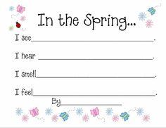 Kindergarten spring writing prompts