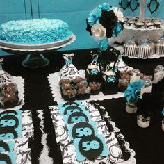kit festa azul prata scrap - Pesquisa Google