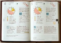 Very cute stamp designs for a planner or journal (nt: not in English)