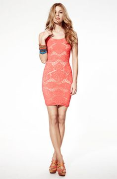 Free People lace tank in tangerine tango!