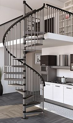 Best Modern Interior Design With Spiral Stairs Contemporary 400 x 300