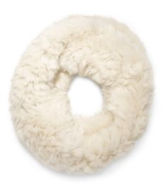 Made of plush rabbit fur, this knitted design from the NYC company Glamourpuss creates maximum stretch so this winter must-have slips on with ease.