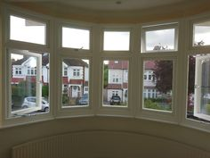 in Grained White effect foiled finish Bay Windows, Cottage, Colours, Home, Bay Window Designs, Cottages, Ad Home, Homes, Cabin