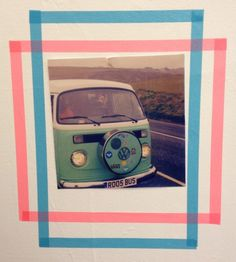 Washi Tape wall frame | Surf style | Roos Beach