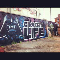 "@streetart_maniiakz_bristol's photo: ""#bristolgraffiti #graffitilife#instagraffiti #spraypaint #urbanart #streetarteverywhere #streetart #streetphotography #bedminster #subwayart #street_art #graf#graff#starwars#darthvader#vader"""