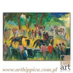 Horse - Painting - Holler Josef | KTÓRY WYGRA? |  A painting by Josef Holler. Signature: Josef Holler; Technique: watercolor; Dimensions: 76 x 55 cm; Exhibitions: Czech Parliament, Millennium gallery – Prague.