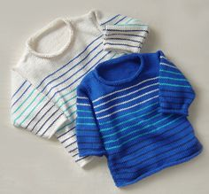 Boy's Stripes Ahoy by Maddy Cranley, pattern available on Ravelry. Knit flat, but you don't have to worry about carrying yarn colors to work the single stripes. Kids Knitting Patterns, Knitting For Kids, Baby Knitting, Knitting Projects, Weaving Patterns, Universal Yarn, Nautical Stripes, Boys Sweaters, Knit Sweaters