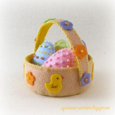 Апельсиновое настроение: Пасхальная корзинка из фетра / Felt Easter basket