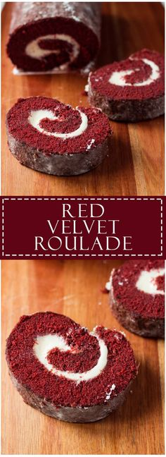 Red Velvet Roulade - A moist and tender red velvet cake roll filled with a deliciously sweet cream cheese filling! Oreo Cheesecake Recipes, Cake Roll Recipes, Cupcake Recipes, Cupcake Cakes, Dessert Recipes, Gourmet Cupcakes, Red Velvet Cake Roll, Velvet Cupcakes, Mocha Cupcakes