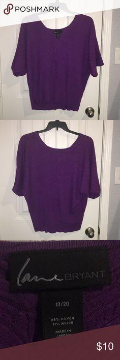 Lane Bryant pink/purple sweater size 18/20 Lane Bryant pink/purple sweater size 18/20 Lane Bryant Sweaters V-Necks
