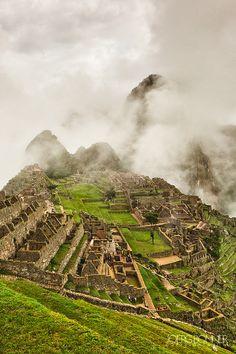 Machu Picchu in Fog by Joerg Bonner, via 500px