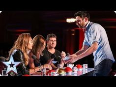 This magician on Britain's Got Talent did one of the cleverest card tricks I've ever seen. Cool Card Tricks, Magic Card Tricks, Easy Magic Tricks, Talent Show, Britain's Got Talent Judges, Britain Got Talent, The Magicians, Here Comes The Judge, Magic Illusions