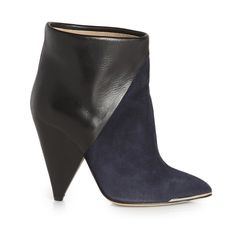Iro Keira Boots in Navy - Shop Luxury Shoes | Editorialist