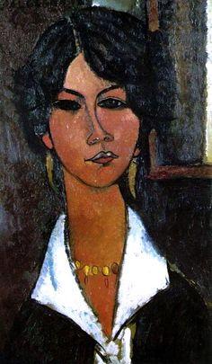 Amedeo Modigliani  Woman of Algiers (Almaisa), 1917, oil on canvas, private collection.