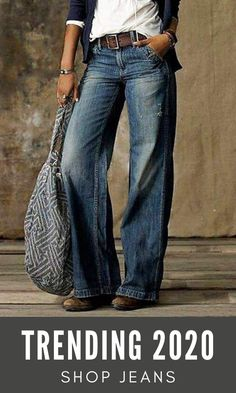 Vintage denim #jeans are perfect choice for daily wear in all seasons. Shop jeans collection now and get 5% off for first order! Code[New5] Free Shipping $69+! #womensfashion #falloutfits Denim Fashion, Boho Fashion, Autumn Fashion, Fashion Outfits, Fashion Hacks, Fashion Tips, Loose Jeans, Denim Jeans, Pretty Outfits