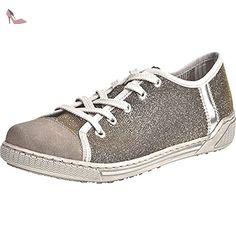 RIEKER Damen Schnuerschuhe pebble/gold-silver/argento, 950514-9, Gr 39 - Chaussures rieker (*Partner-Link)