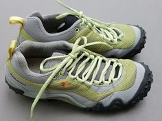 Garmont Womens Nasty Trail Walking Shoes US 8.5 Eu 41 Lime Green Gray Low Boots #Garmont #HikersTrail