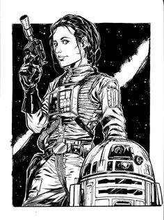 Princess Leia & R2-D2 - Star Wars - Ryan Kelly