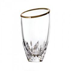 Lismore Essence Gold 9in Angular Vase