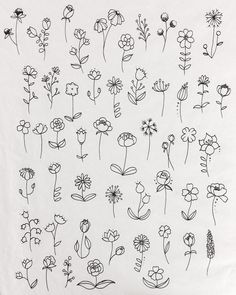 40 Easy Things to Draw for Your Bullet JournalFlower Circle Bullet Journal Doodle drawing doodle Things to Ways to Draw Simple Ways to Draw Flowers // flowers drawing // Flower drawing, floral drawing Doodle Drawings, Easy Drawings, Tattoo Drawings, Body Art Tattoos, Easy Flower Drawings, Sketch Tattoo, Tatoos, Finger Tattoos, Drawings On Hands