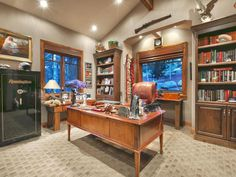 Ornate home office | 7465 Woodland View Dr, Park City, Utah, 84060 | summitsothebysrealty.com