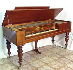 96: 19TH C MUZIO CLEMENTI ENGLISH SQUARE GRAND PIANO : Lot 96