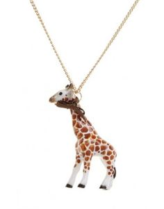 Love Hearts and Crosses - Mr Giraffe Porcelain Animal Necklace - Quirky Fashion Jewellery and Accessories