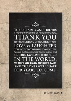 Wedding Sign- Thank You note