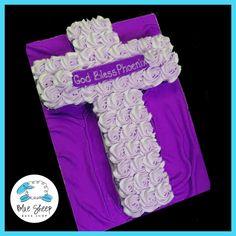 Cross Cupcake Communion Cake – Blue Sheep Bake Shop