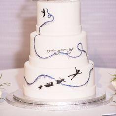 "A simple Peter Pan inspired wedding cake - ""Never Grow Up!"""