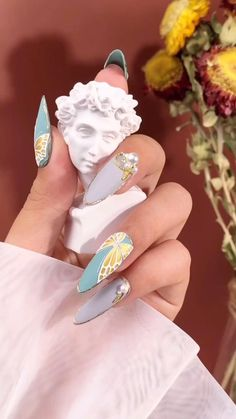 Nail Art Designs Videos, Nail Design Video, Nail Art Videos, Nail Designs, Nail Art Hacks, Nail Art Diy, Diy Nails, Art Deco Nails, 3d Nails Art
