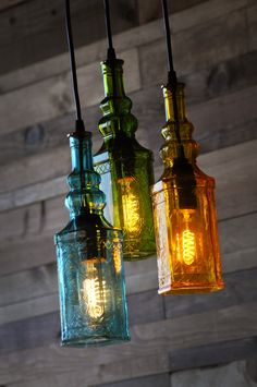 Repurposed Bottle Chandelier  The Moroccan by MoonshineLamp