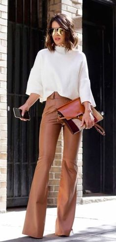 High waisted pants outfit #elegant #elegantdaywear #sophisticated