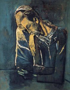 My favorite Picasso! Two figures - Pablo Picasso - Oil on canvas, Pablo Picasso, Expo Picasso, Kunst Picasso, Art Picasso, Picasso Blue, Picasso Paintings, Georges Braque, Art And Illustration, Kunst Online