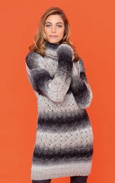 Lana Grossa LONGPULLI/KLEID Super Color - COLORS No. 3 - Modell 1 | FILATI.cc WebShop
