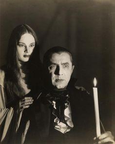"Carroll Borland with Bela Lugosi in ""Mark of the Vampire"""