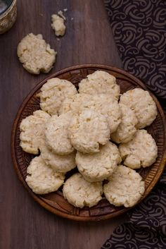 Indian Coconut Cookies With Cardamom & Ghee