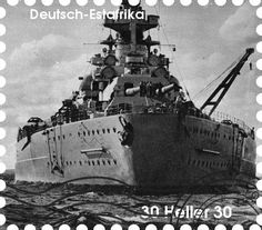Stampede Beta - Stamp Profile - German Battleship Bismarck Perhaps no ship struck as much fear into the heart of the British Navy in the spring of 1941 than the massive German dreadnought Bismarck which, at 823 feet and with a top speed of 30 knots, was the largest and fastest warship then afloat.