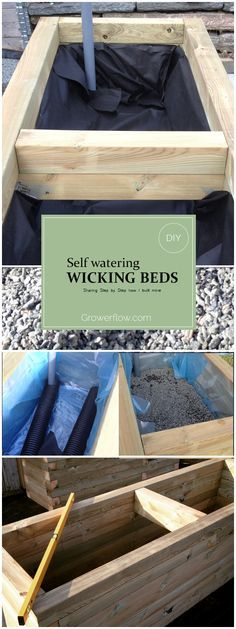 DIY. How to build a Self Watering Wicked Bed / Raised bed. I show Step by Step how i built my Raised beds.