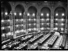 La Salle ovale de la Bibliothèque nationale de France (agence de presse Meurisse, 1936).
